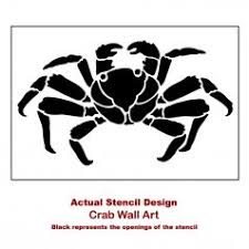 Crab Decorations For Home Crab Wall Stencil Nautical Designs For Stenciling Sea Creatures