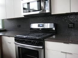 Penny Kitchen Backsplash Penny Tile Fireplace Trendy Tv Stand Inch What To Put On
