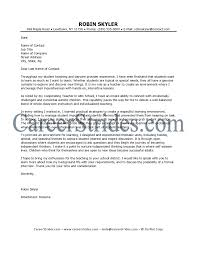 cover letter cover letter example teaching cover letter template
