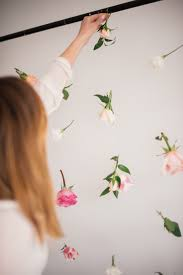 diy backdrop how to make a floating flower wall lark linen