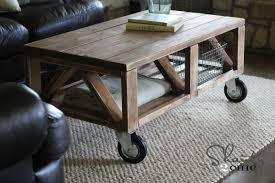 Coffee Tables With Wheels Diy Truss Coffee Table Hometalk