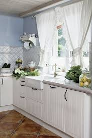 kitchen mesmerizing rustic cottage style with white curtain french