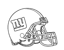 football helmet new york giants coloring page for kids kids