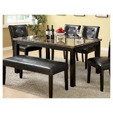 marble dining room sets iohomes faux marble dining table wood black target