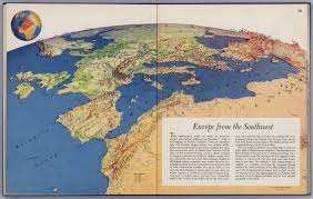Caspian Sea World Map by How An Artist Reinvented The Map In Wwii Mapping The Nation Blog