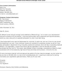 Examples Of Resumes And Cover Letters by Sample Cover Letter For Resume Human Resources