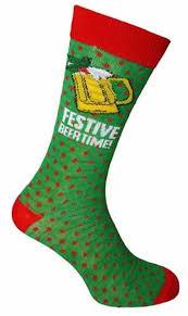 mens christmas socks 1 pair of mens christmas socks festive beertime size 6 11