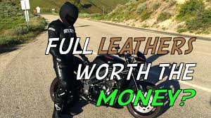 is a leather motorcycle suit worth it youtube