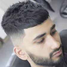 goodlooking men with cropped hair french crop with high taper fade and beard jpg