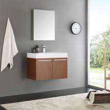 30 Inch Modern Bathroom Vanity Eviva Smile 30 Inch Rosewood Modern Bathroom Vanity Set With
