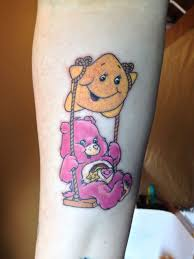 care bears tattoo design on upper back tattoobite com gallery for
