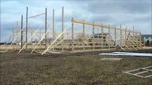 pole barn construction youtube