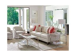 Ariana Bedroom Set Contemporary Modern Design Lexington Ariana Athene Stainless End Table With Marble Top