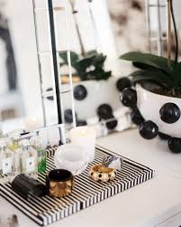 vanity trays for perfume black and white tray photos design ideas remodel and decor lonny
