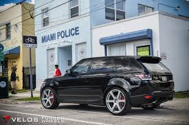 range rover silver 2015 2015 range rover sport supercharged on velos solo vi forged wheels