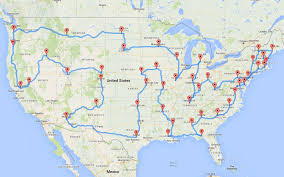Us Map Image This Man Planned The Most Epic And Efficient Road Trip Of All
