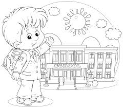 Coloring Page Of A School Coloring Pages School Fablesfromthefriends Com by Coloring Page Of A School