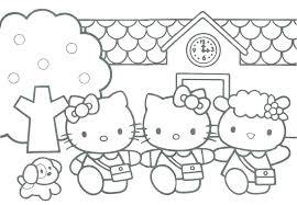coloring page of a kitty hello kitty coloring page mostros info