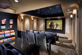Constellation Theater Transitional Home Theater New York - Home theater design group