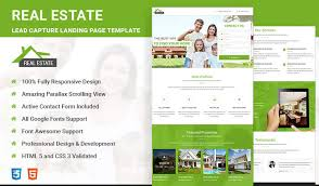 best responsive html5 real estate landing page template olanding