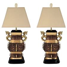 Urn Table Lamp Pair Of Impressive Bronze Chinese Urn Table Lamps For Sale At 1stdibs
