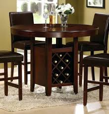 Round Pub Table Set Wine Rack Rustic Round Bar Table Set With Wine Rack Glass Bar