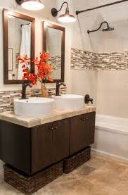 spa bathroom design ideas orange accents design and ideas