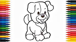 how to draw puppy drawing cute puppy colors picture coloring book