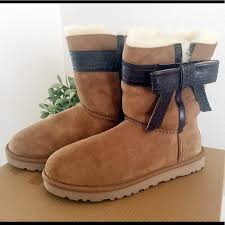 ugg womens josette boot 50 ugg shoes nwt ugg josette leather bow band shearling