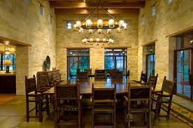 rustic hacienda style texas ranch american southwest dining