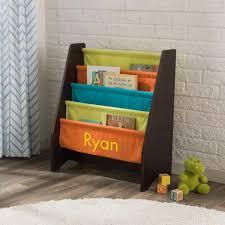 Fabric Sling Bookshelf Sling Bookshelf Brights U0026 Espresso