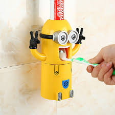 toothbrush holder automatic toothpaste dispenser minions 2015