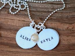 Personalized Hand Stamped Jewelry Hand Stamped Jewelry Custom Created Silver Jewelry