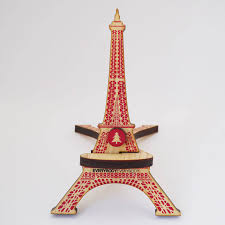 Eiffel Tower Ornaments Eiffel Tower Wooden Glasses Holder By Toothpic Nations