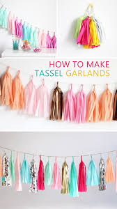 how to make your own tassel garlands diy crafts