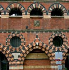 brick arches window details in exterior brick walls