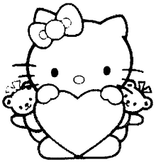 print kitty color pages girls coloring pictures