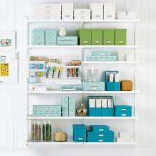 Craft Room Images by White Elfa Craft Room Shelving The Container Store