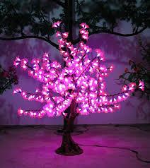 led outdoor tree light pink azalea petals high imitation tree l