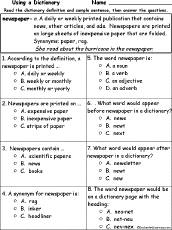 make a classroom newspaper enchantedlearning com