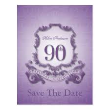 save the date birthday cards 90th birthday party choose color cards save the date cards