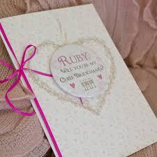 bridesmaid invitation large personalised magnet bridesmaid invite card by bedcrumb