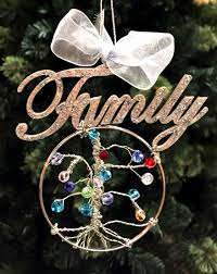 personalized birthstone ornaments design your own unique family tree ornament using birthstones