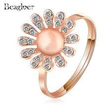 aliexpress buy beagloer new arrival ring gold beagloer brand new year gift opal ring gold color element
