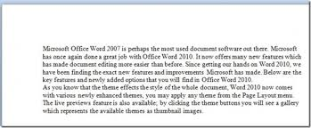 how to quickly add space before paragraph in word 2010