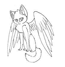 10 images of winged cat coloring pages winged warrior cat line