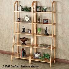Brown Ladder Shelf Kimber Natural Oak Corner And Ladder Shelves