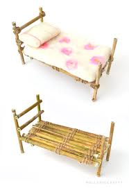 a fairy bed made with twigs and love nature crafts twine and fairy