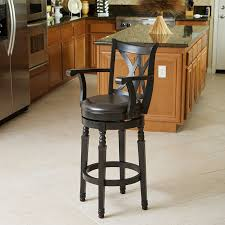 wooden bar stools with backs that swivel swivel bar stools with backs and arms dining room sustainablepals