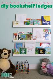 diy bookshelf ledges for the nursery the turquoise home